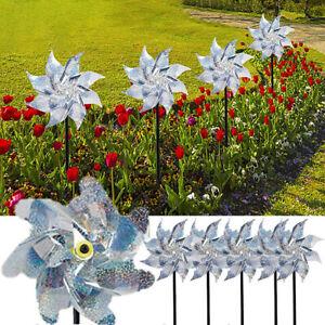 5x Bird Scarer Deterrent Reflective Pest Repellent Windmill Garden Ornament