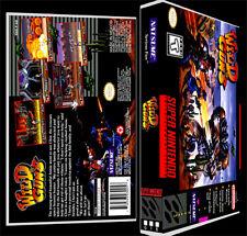 Wild Guns - SNES Reproduction Art Case/Box No Game. Super Nintendo