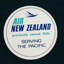 83158) Luftpost Vignette Air Mail label, Air New Zealand ...TEAL...Serving..