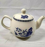 Blue & White Teapot P & K Dover Made in England Ceramic