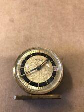 Vintage Appella Wind-Up Desk Alarm Clock Watch Date Window T-Swiss 7 Jewels