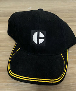 CAT Caterpillar Tractor Equipment Hat Cap Black Yellow Adjustable Cotton