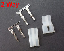 "2 Pairs Molex Connector 2 Pin 2 Circuit Standard 2 Way .093"" Crimp Plug Terminal"
