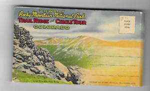 VINTAGE-POSTCARD FOLDER-ROCKY MOUNTAIN NATIONAL PARK AND CIRCLE TOUR-COLORADO