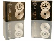 National 8 Grooved Brake Discs (Pair) PBD211G Fits BMW