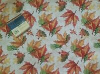 """Set 4 Tapestry Placemats 13""""x18"""" Autumn Leaves Fall Thanksgiving NEW"""