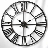 "Colossal Sized Retro Shabby Chic Wall Clock. 80cm Diameter (31"" +) 8893"