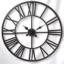 "Colossal Sized Retro Shabby Chic Wall Clock. 80cm Diameter (31"" +) 8893"