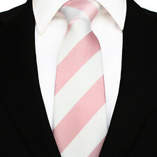 Men's Stripe Woven Microfibre Polyester Tie - Evening Work Party