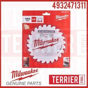 Milwaukee 4932471311 PTFE Circular Saw Blade 165 mm x 24 Teeth M18CCS55-0