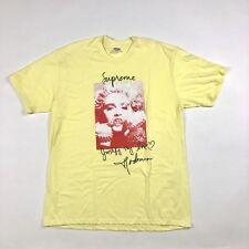 Supreme Madonna Camiseta XL Amarillo ds nuevo