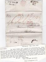 # 1826 LANCASTER MILEAGE PMK T HIGGINS > WILSONS BANNOCKBURN STIRLING PENNY POST