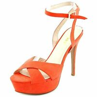 Report Signature Womens Valleta Open Toe Ankle Wrap Platform, Coral, Size 6.5 hy