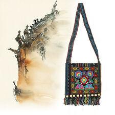 Fashion Vintage Hmong Ethnic Thai Shoulder Bag Embroidery Boho Hippie Ethnic Bag