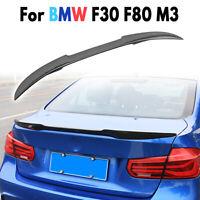 For BMW F30 F80 M3 12-16 4Dr Carbon Fiber Rear Trunk Spoiler Wing Lip M4 V  !