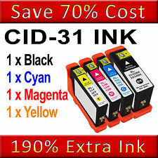 4PK Ink Cartridge for Dell 31/32/33/34 Dell V525 V525W V725 V725W