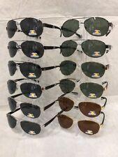c01e271f6fe34 WYL001 Polarized Aviator Plastic Temple Sunglasses Wholesale 12 Pair