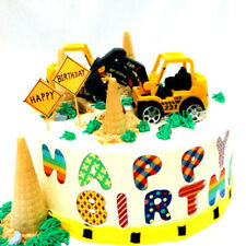 6pcs/set Excavator Cake Decorations for Kids Boy Birthday Party Accessories Toys