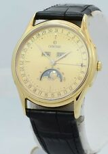NEW Concord Classic Complete Calendar Moonphase 18k Yellow Gold $8,450.00 watch.