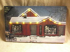 Antiques Store Front Christmas Lighted Canvas Wall Decor Sign