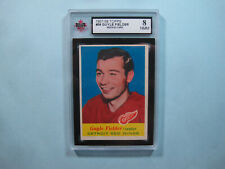 1957/58 TOPPS NHL HOCKEY CARD #36 GUY FIELDER ROOKIE KSA 8 NM/MINT SHARP+ 57/58