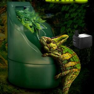 Reptile Drinking Water Fountain Humidifier Feeding Chameleon Lizard Dispenser