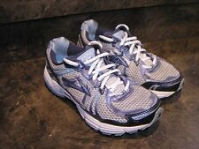 BROOKS ADRENALINE GTS 12 BLUE SILVER WOMENS 7.5 WIDE EUC V-CLEANsee pics-details