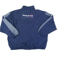 VTG Reebok Classic Mens Running Track Jacket British Flag Spellout Size 2XL 90s