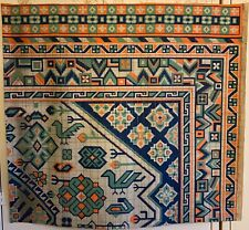 Beautiful Early 20th Century French Kilim Painting For Carpet Development (3236)
