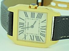 Womens Cartier Santos Dumont Midsize 18K Solid Gold Display Model