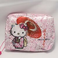 Hello Kitty Cute Kawaii Compact Eco Bag Cherry Blossom Umbrella Kyoto Japan