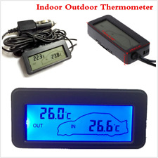 Universal Car Auto Accessories Indoor Outdoor LCD Digital Thermometer Blue LED