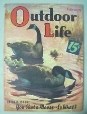 Outdoor Life Magazine February 1939 Edgar F. Wittmack Cover Geese