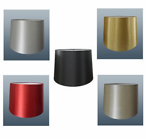 """16"""" Empire Drum Shade Silk - Shade Lamp Light Shade - In 5 Colours"""