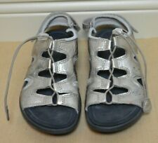 Ecco Soft 5 Toggle Sandals WOMENS SZ 40 EU 9 US WARM GREY METALLIC