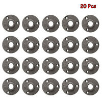 20 Pack 1/2'' Floor Flange Malleable Iron Pipe Fittings with Threaded Hole US