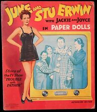 Un-Cut Paper Doll Book June and Stu Erwin w Jackie & Joyce Trouble with Father