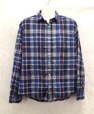 Mens Aeropostale Shirt Size L/Large Button Up Long Sleeve Blue Plaid