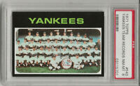 1971 TOPPS # 543 YANKEES TEAM, PSA 8 NM-MT, THURMAN MUNSON, CENTERED, L@@K !