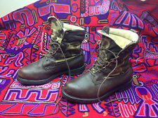 USA IRISH SETTER RED WING BROWN CAMO CANVAS BROWN LEATHER HUNTING BOOTS 8.5 EE