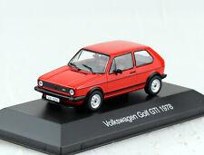 VW Golf 1 GTI rot 1978 1:43 Ixo/Atlas Modellauto