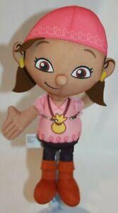 "Disney Jake and the Neverland Pirates Talking IZZY PIRATE Plush Stuffed Toy 11"""