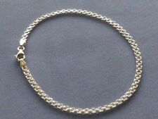 "Bracelet Bismark 050 Italy 925 New 9"" Italian Sterling Silver Ankle"