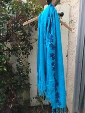Women's Shawl Scarf Swimsuit Wrap Cover up Beach Rapa Nui Blue Beach Dress Skirt