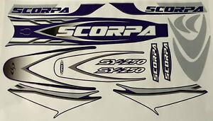 Scorpa SY250 Trials Bike complete decal / sticker  set 2000 / 2009