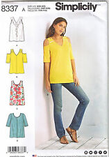 Stretch Knit Tops Cold Shoulder Option Ruffle Sewing Pattern XXS XS S M L XL XXL