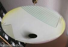 60er Original Deckenlampe Designerlampe Tellerlampe Glas Messing  Lamp 60er
