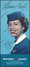 NORTHWEST ORIENT WELCOME ABOARD ELECTRA, DC-6, DC-7, DC-8 BROCHURE ± MINT 1961