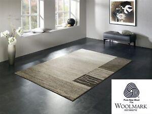 ORGANICAL CHEVRON moderner Woll Teppich Wollsiegel in natur, viele Größen