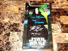 """Star Wars Signed Emperor Signed 12"""" Action Figure Clive Revill AND Ian McDiarmid"""